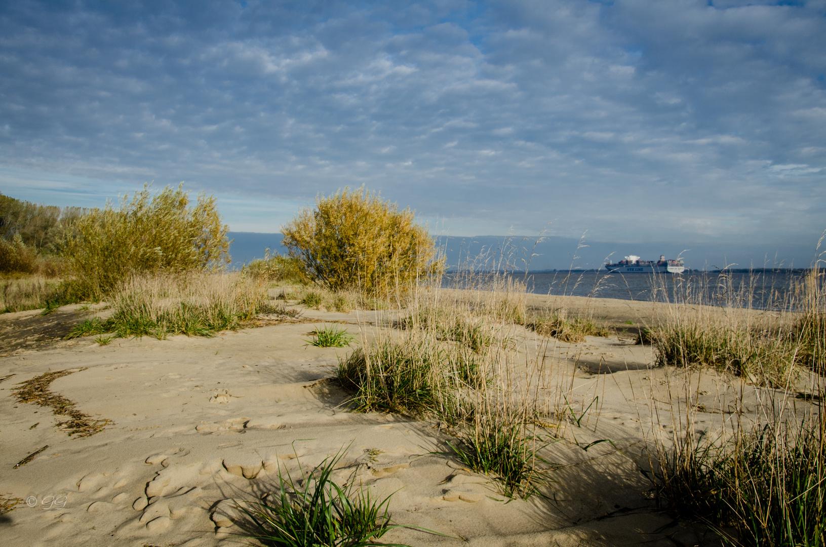 Herbstmorgen auf Krautsand