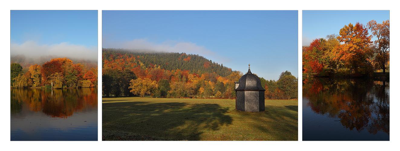 Herbstmorgen im Greizer Park