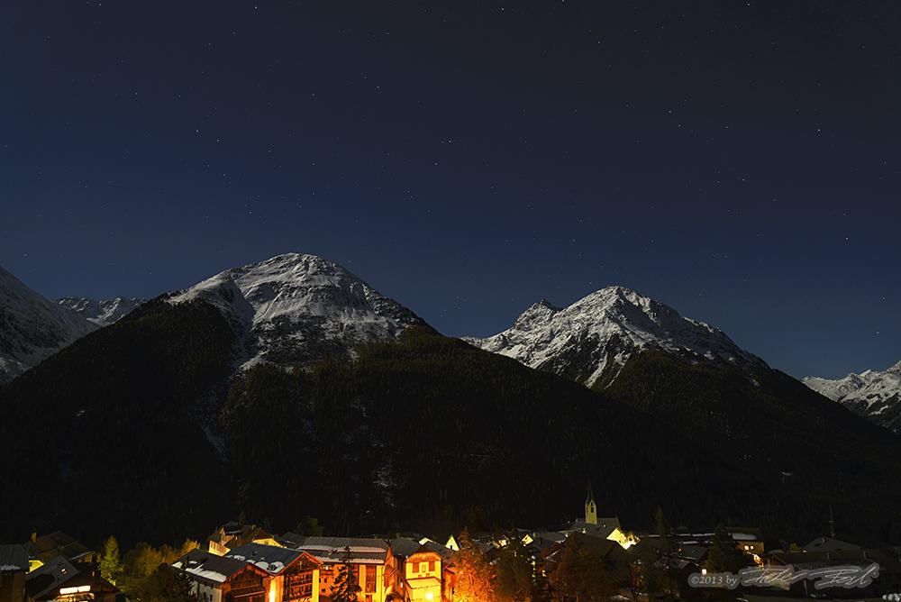 Herbstnacht über Guarda