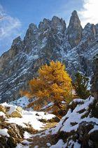 Herbstschnee am Langkofel