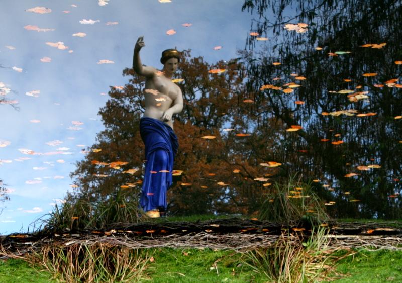 Herbstspiegelung im Branitzer Park - Cottbus