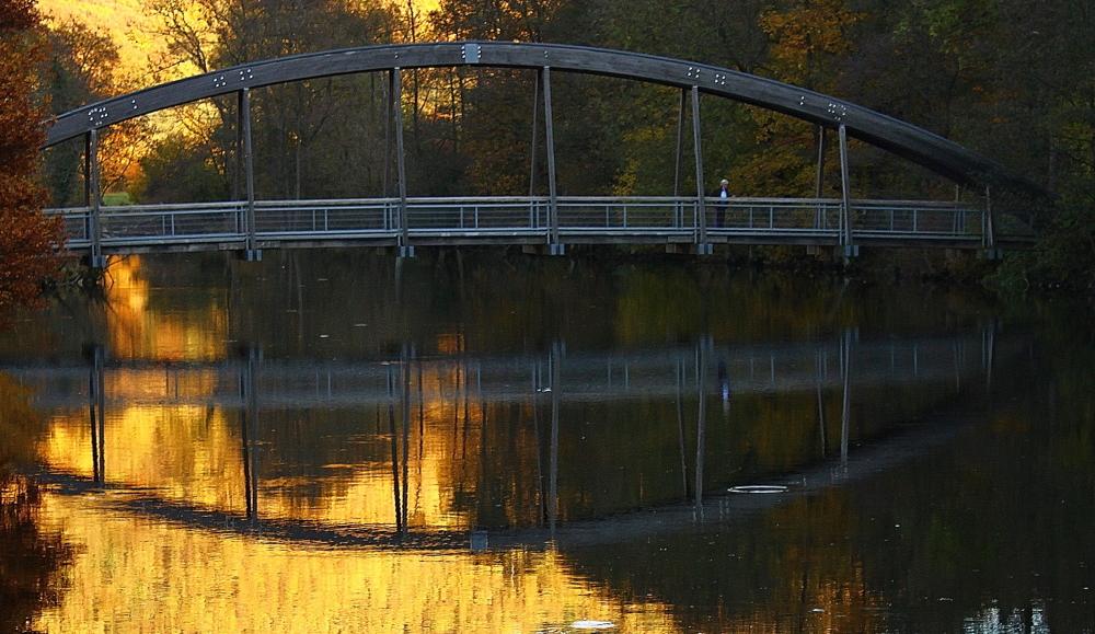 Herbstspiegelung sehen