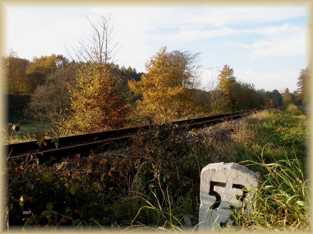 Herbststimmung an der Bahn