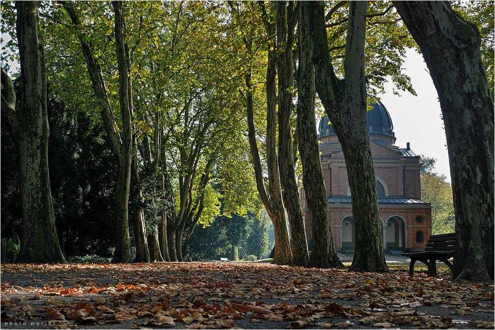 Herbststimmung auf dem Südfriedhof