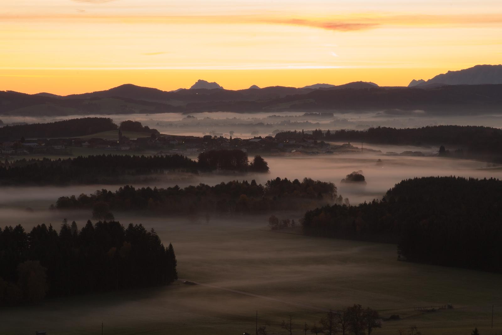 Herbststimmung bei Sonnenaufgang...