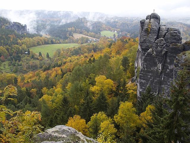 Herbststimmung im Elbstandsteingebirge
