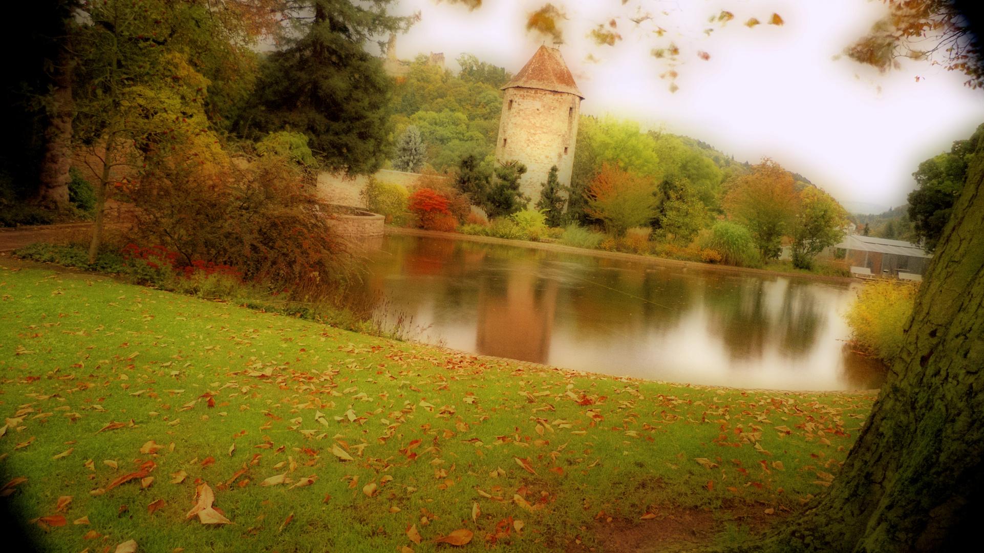 Herbststimmung Schlosspark Weinheim