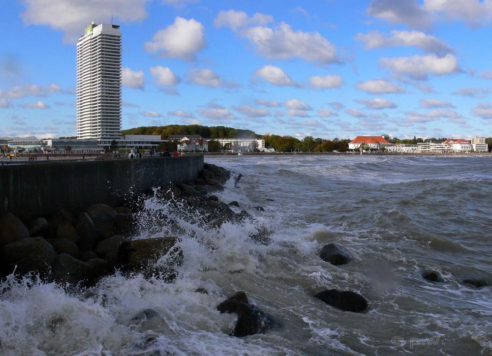 Herbststurm an der Ostsee