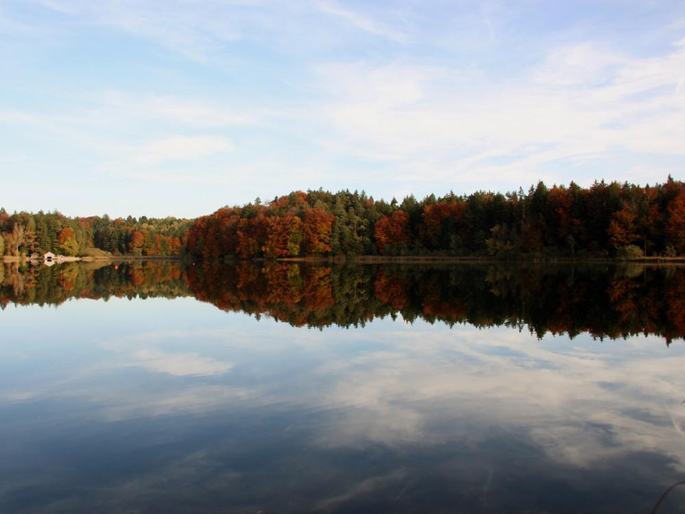 Herbsttag am See - Spiegelklar