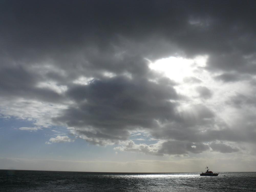 Herbstwolken über dem Königshafen auf Sylt