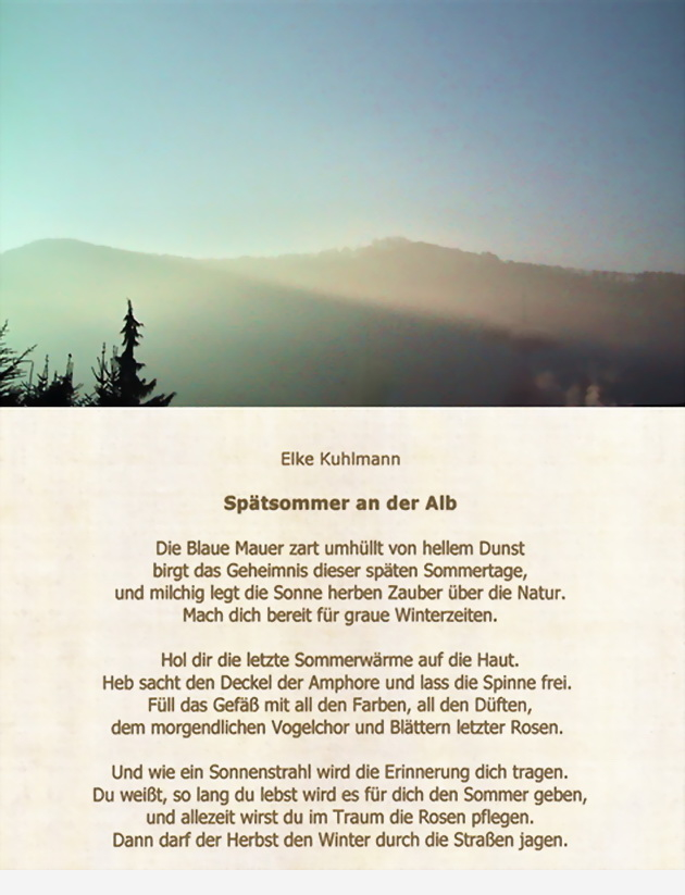 Herbstzauber an der Schwäbischen Alb in Wort und Bild