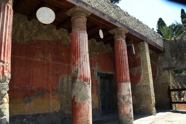 Herculaneum einst vom Vesuv verschüttet...