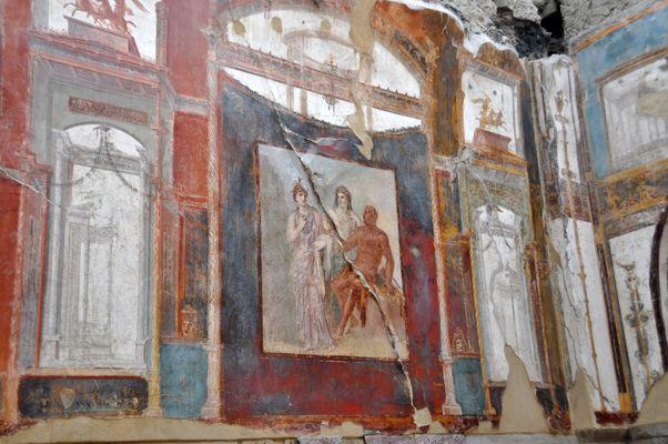 Herculaneum - Wandmalerei im Augustalenkollegium