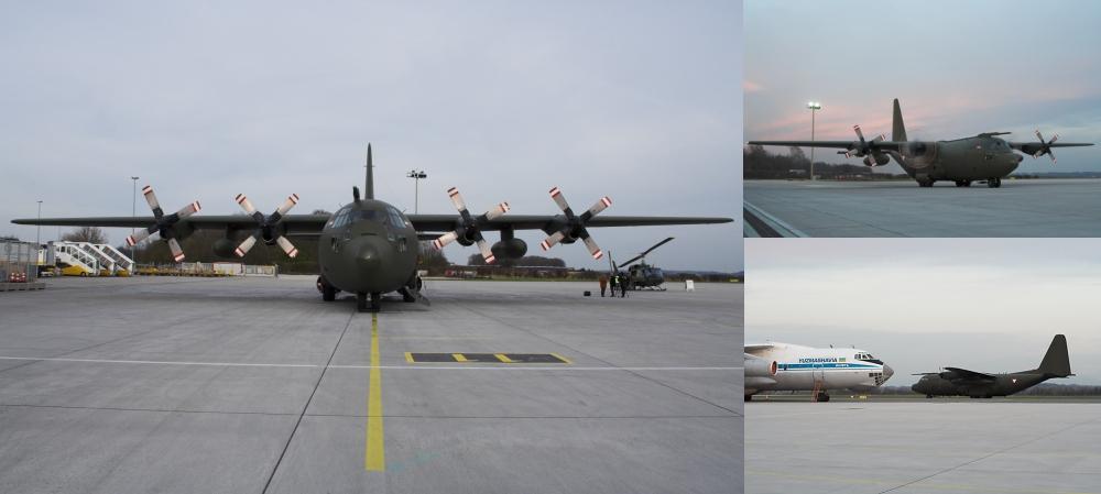 Hercules am Zivilflughafen