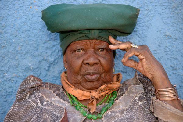 Herero Frau in Katutura