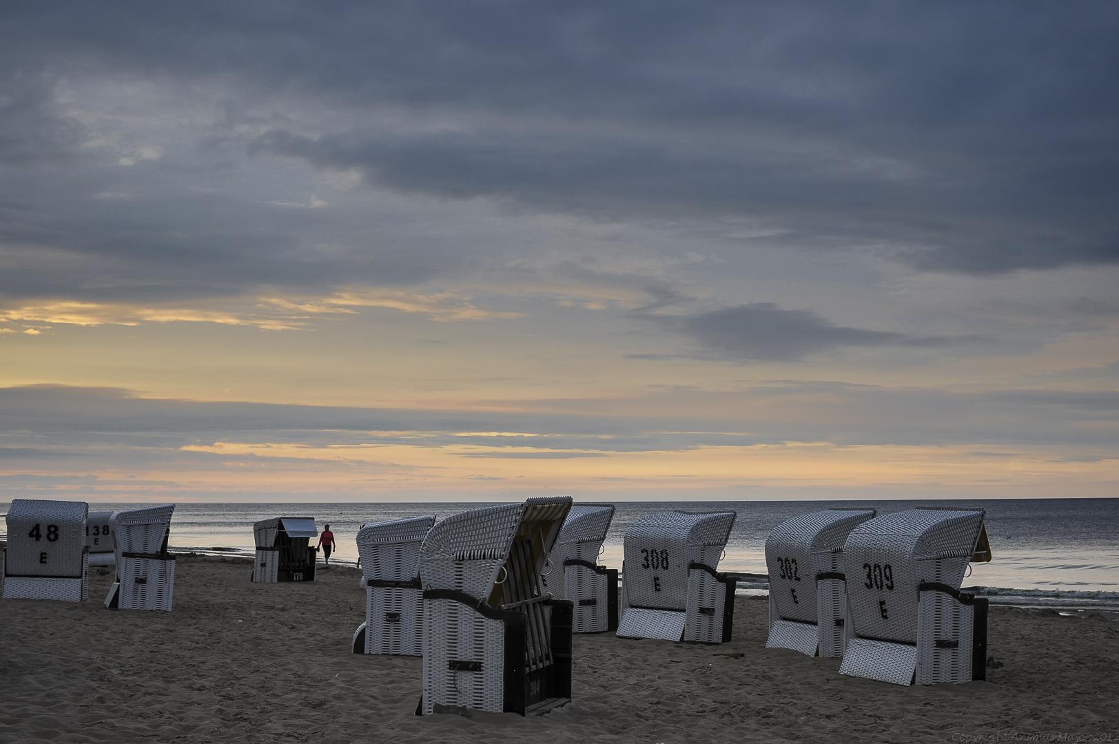 Heringsdorf Strand zur blauen Stunde