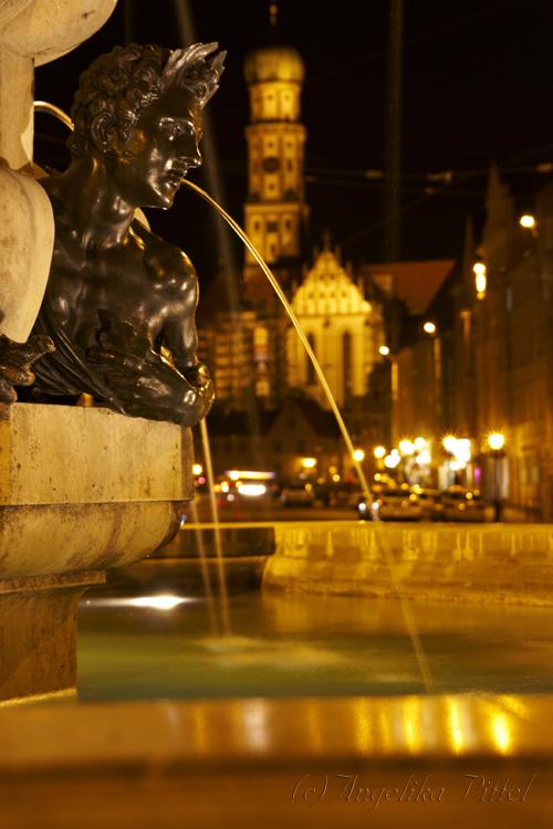 Herkulesbrunnen in Augsburg