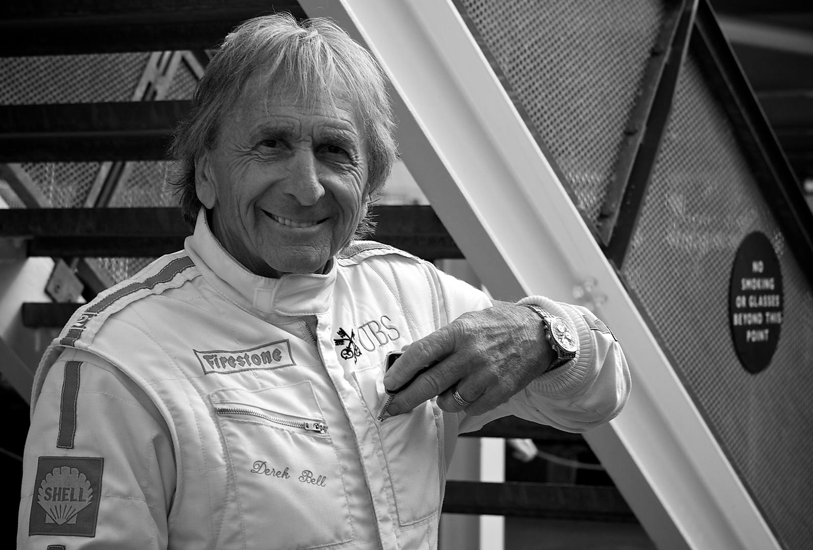 Hero from yesterday.  Derek Bell at Goodwood 2011....