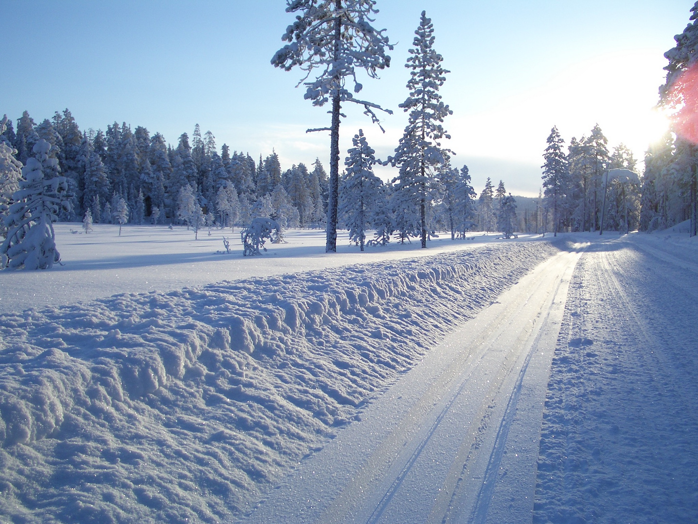 Herrliche Ausblicke beim Langlauf in Finnland