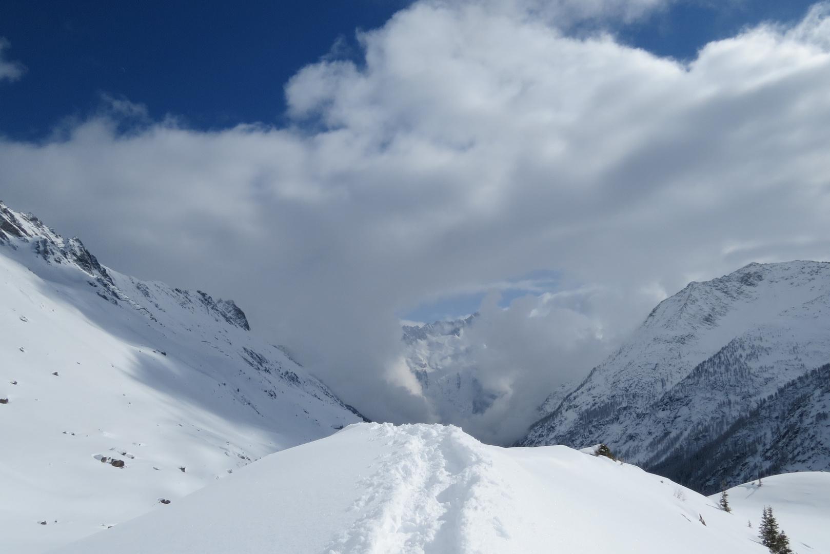 Herrliche Schneeschuhtour