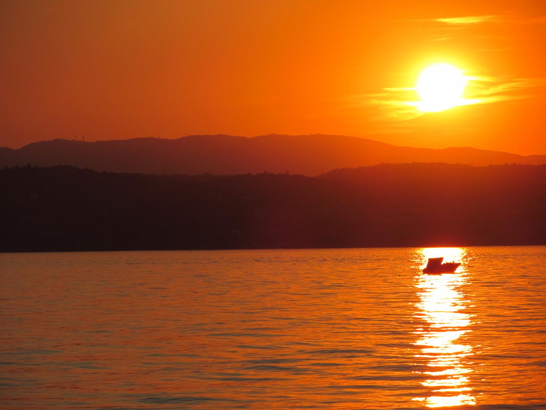 Herrlicher Sonnenuntergang am Gardasee