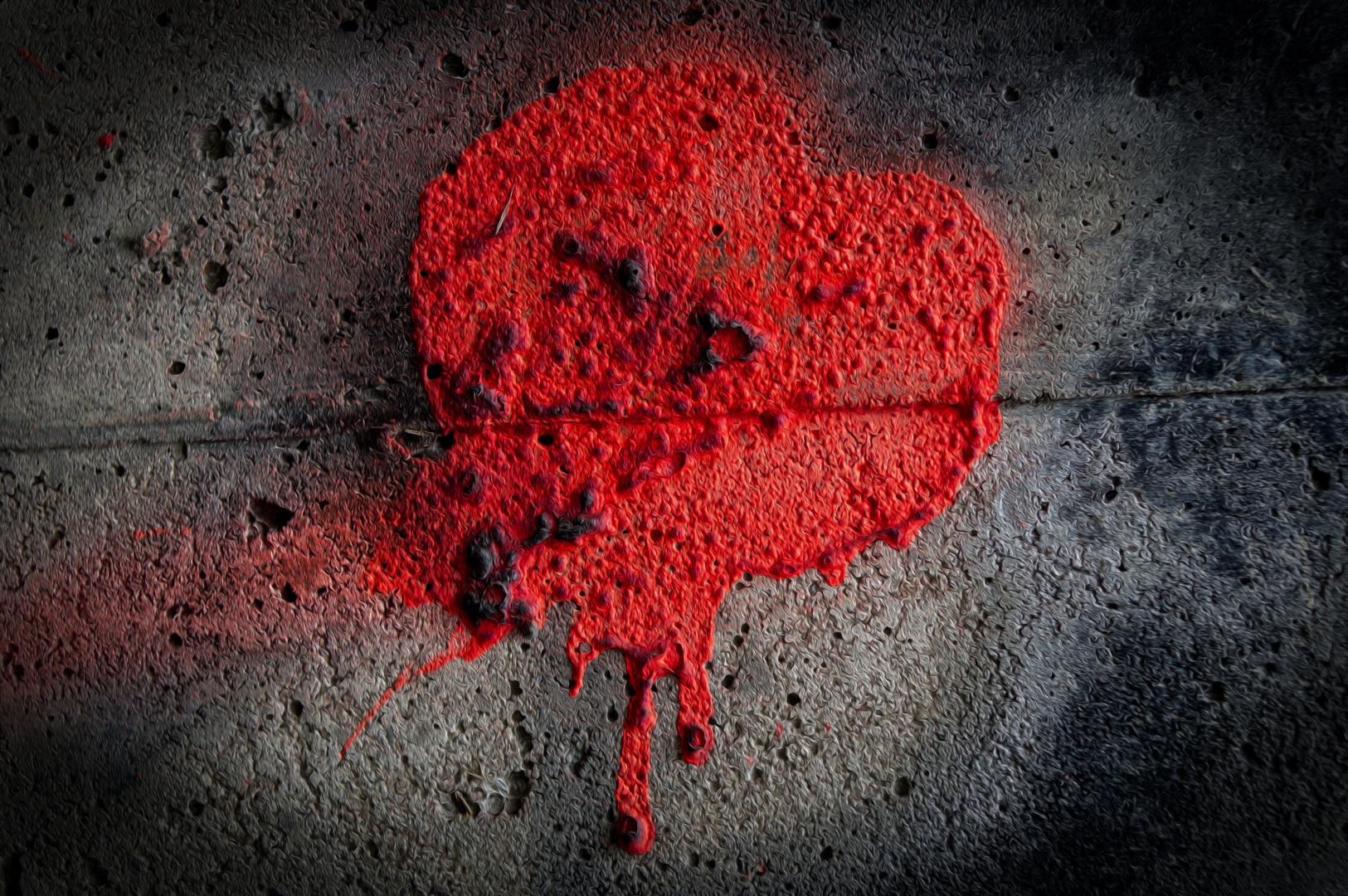 Herz auf der Wand