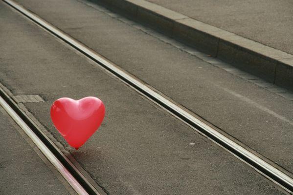 Herz auf Schienen