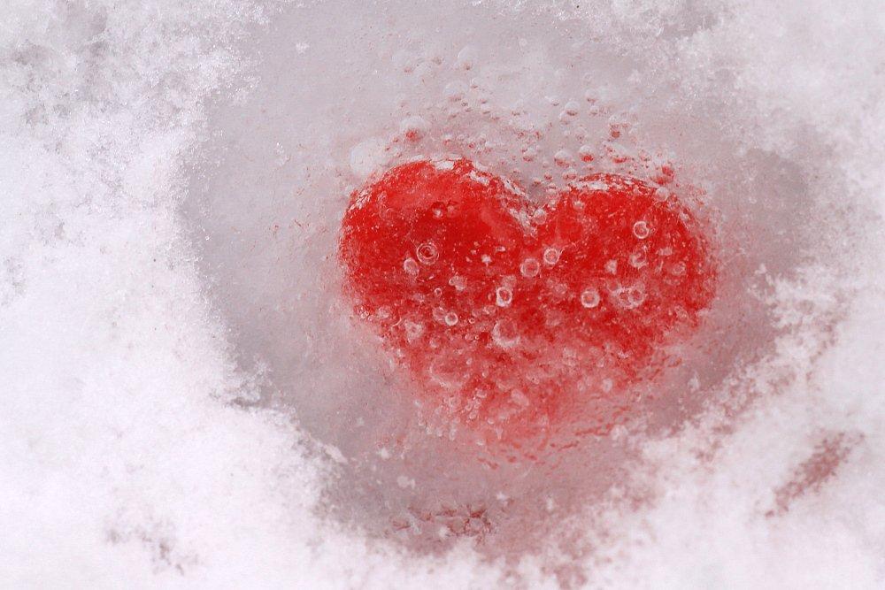 Herz in Eis