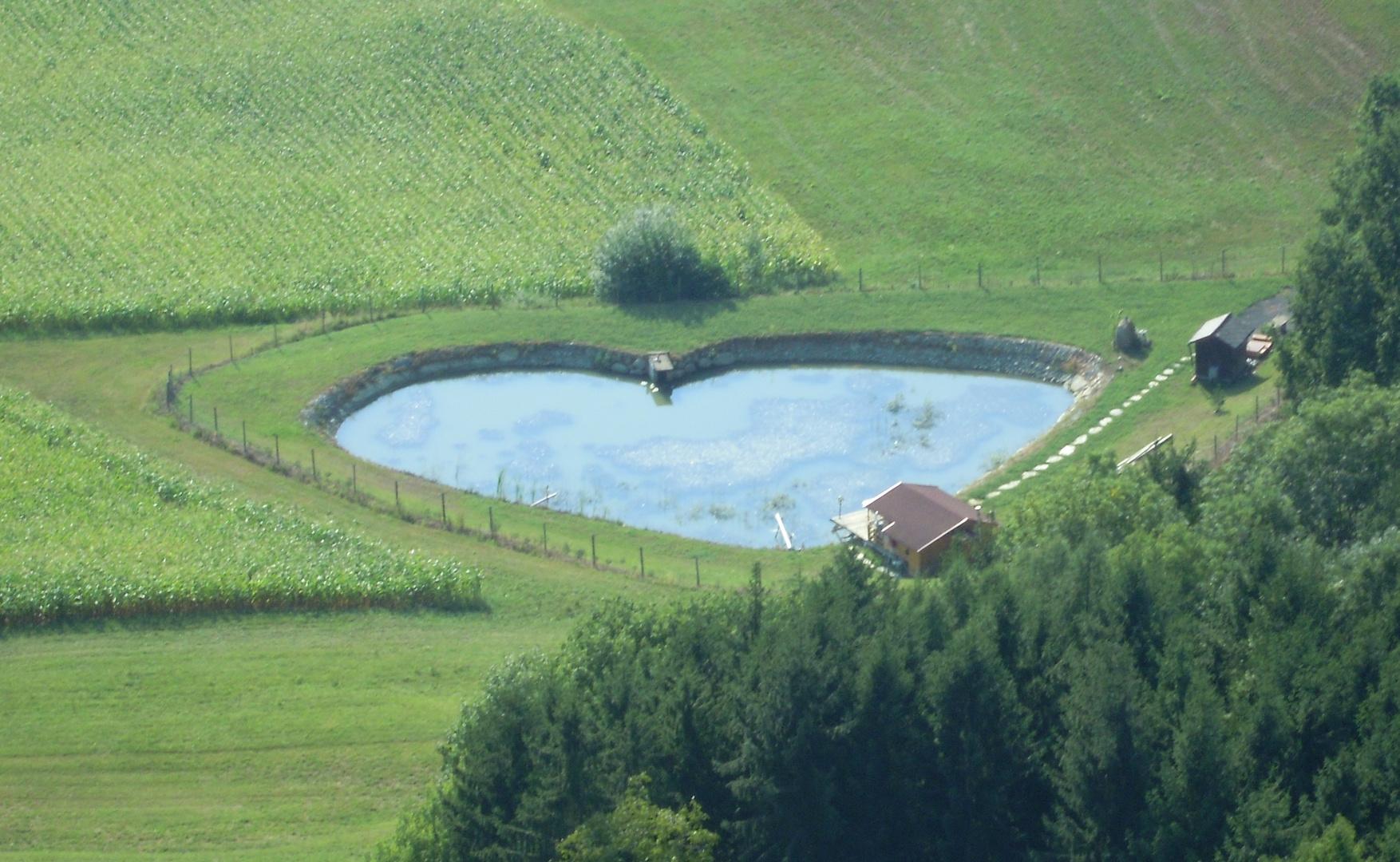 herzförmiger See