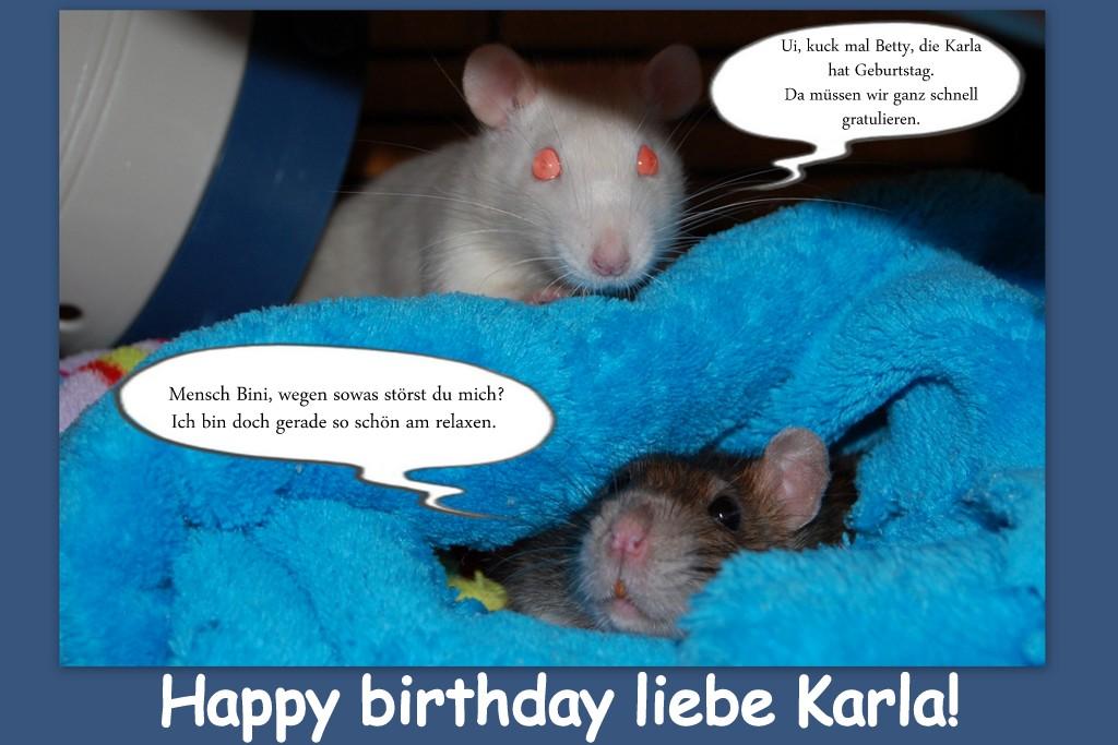 Herzlichen Glückwunsch liebe Karla!