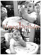 Herzlichen glückwunsch zum erste Geburtstag