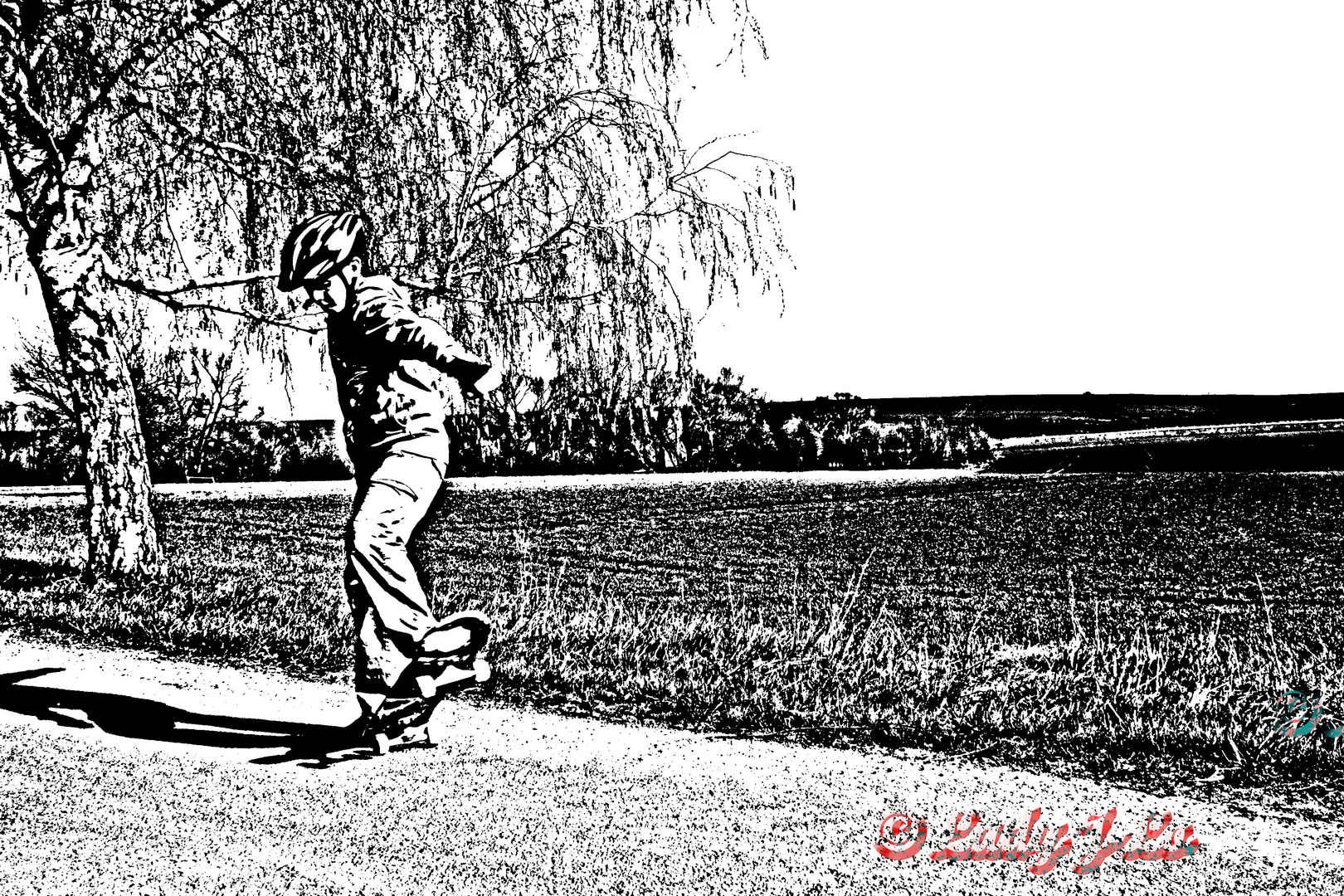 He´s a skaterboy!!