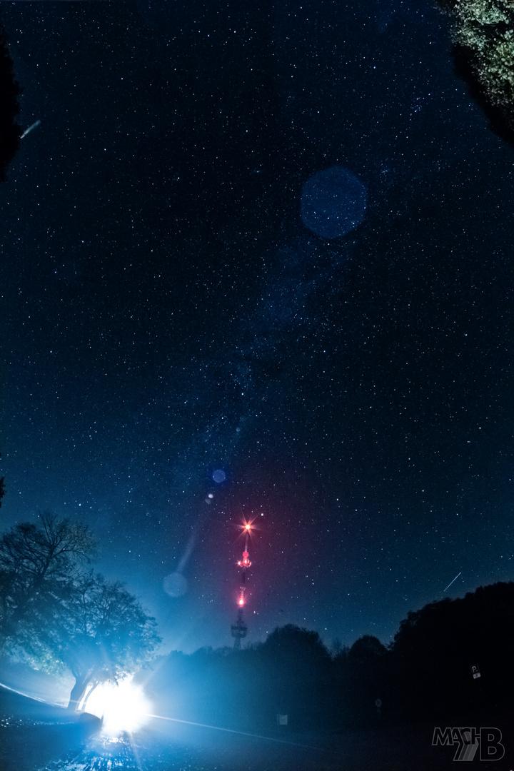 Hesselberg bei Nacht