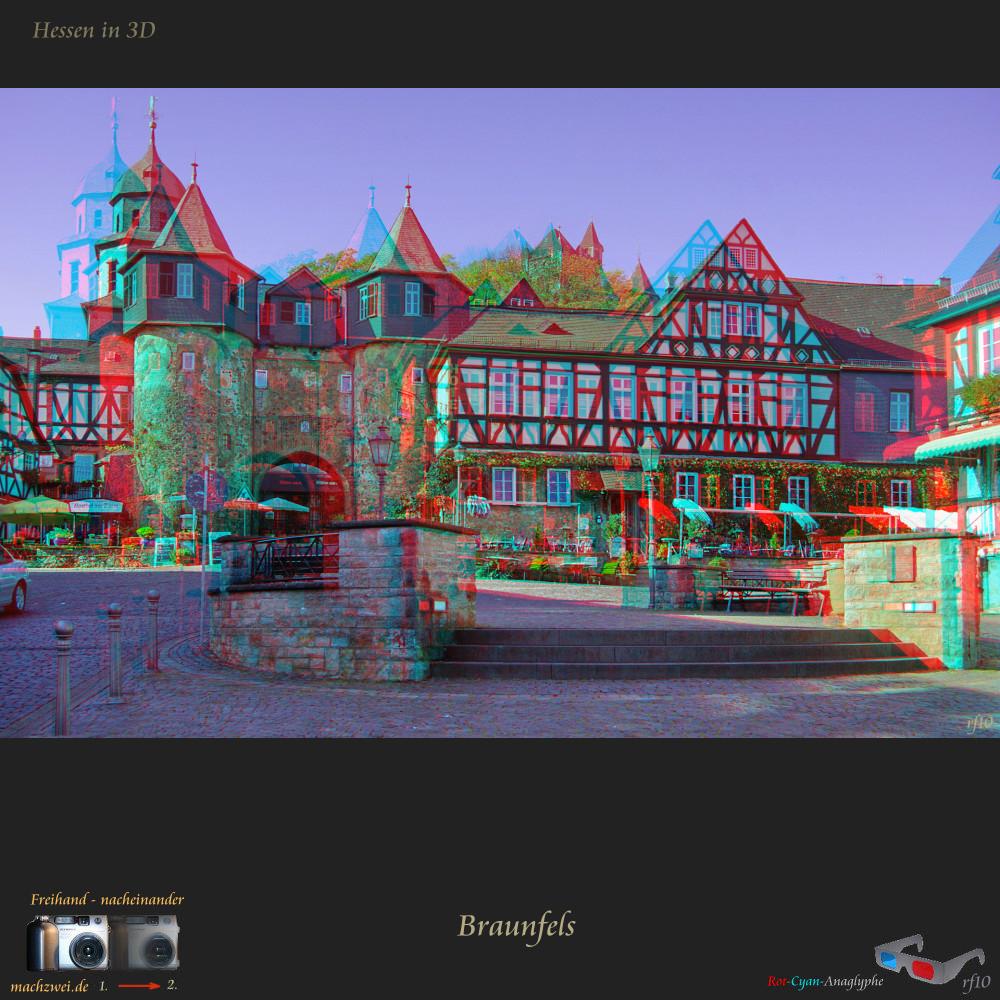 Hessen in 3D : Braunfels - Anaglyphe