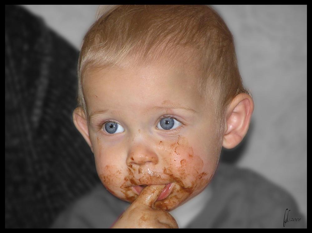 Heu .... non non j'ai pas touché au chocolat