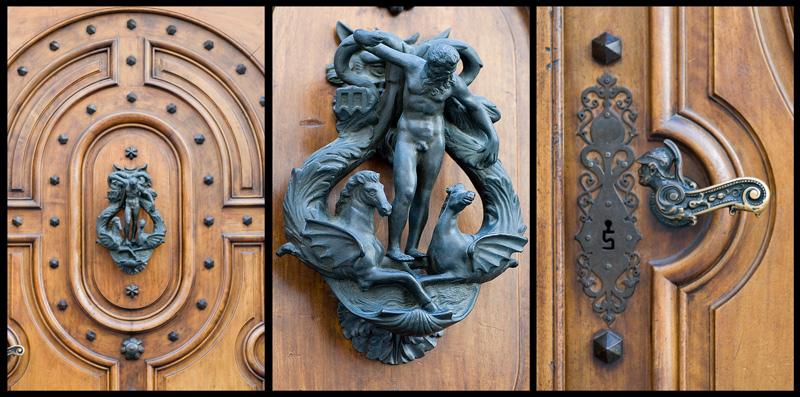 Heurtoir de porte d'une maison de Genève