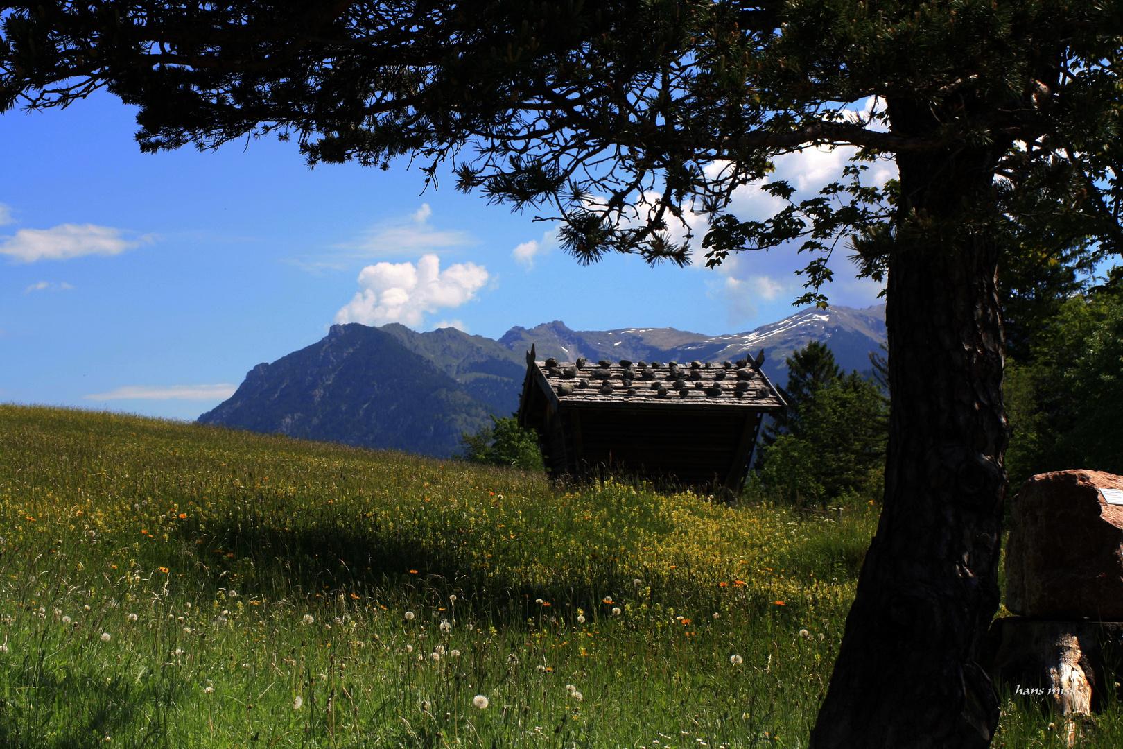 Heuschober oberhalb von Mittenwald