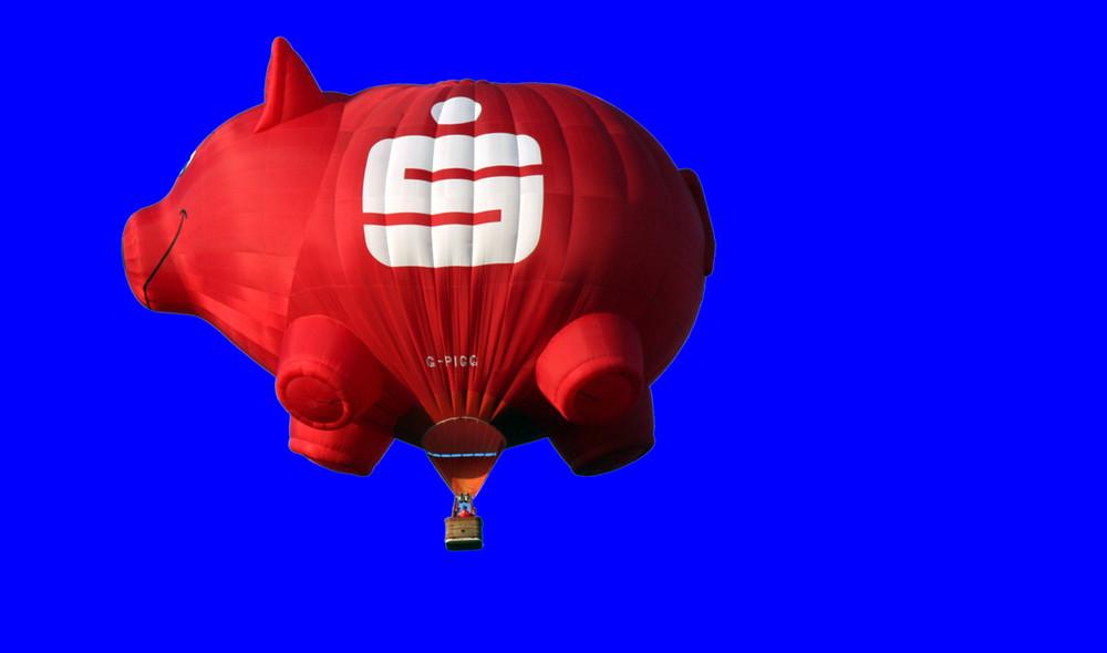 Heut' fliegen die Schweine nicht so tief !