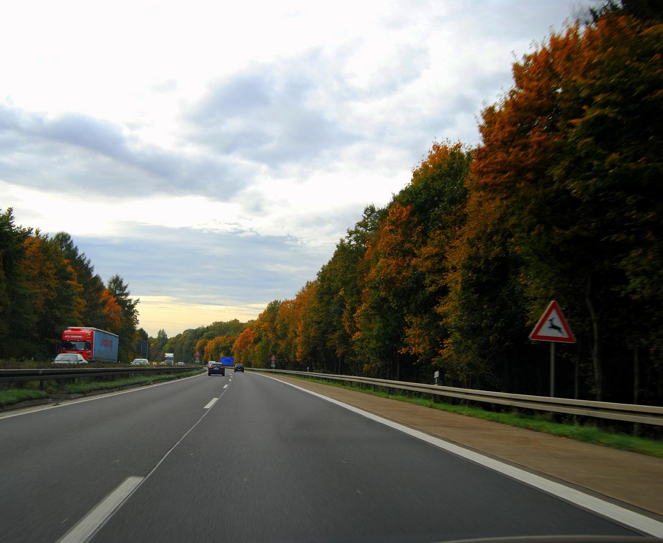 Heute auf der Autobahn