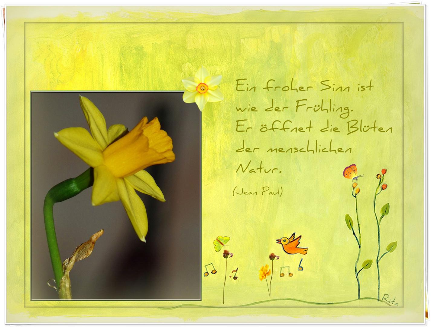 heute ist der Frühlingsanfang...