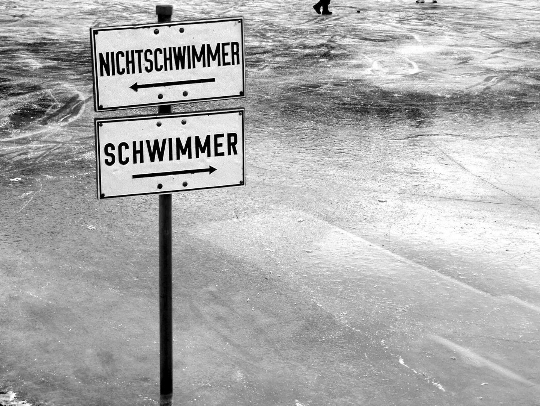 heute lieber bei den Nichtschwimmern...