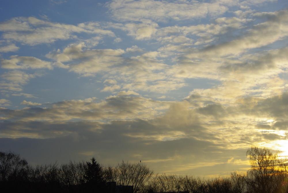 Heute Morgen beim Blick aus dem Fenster
