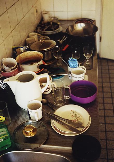 heute morgen in der Wohnheimküche