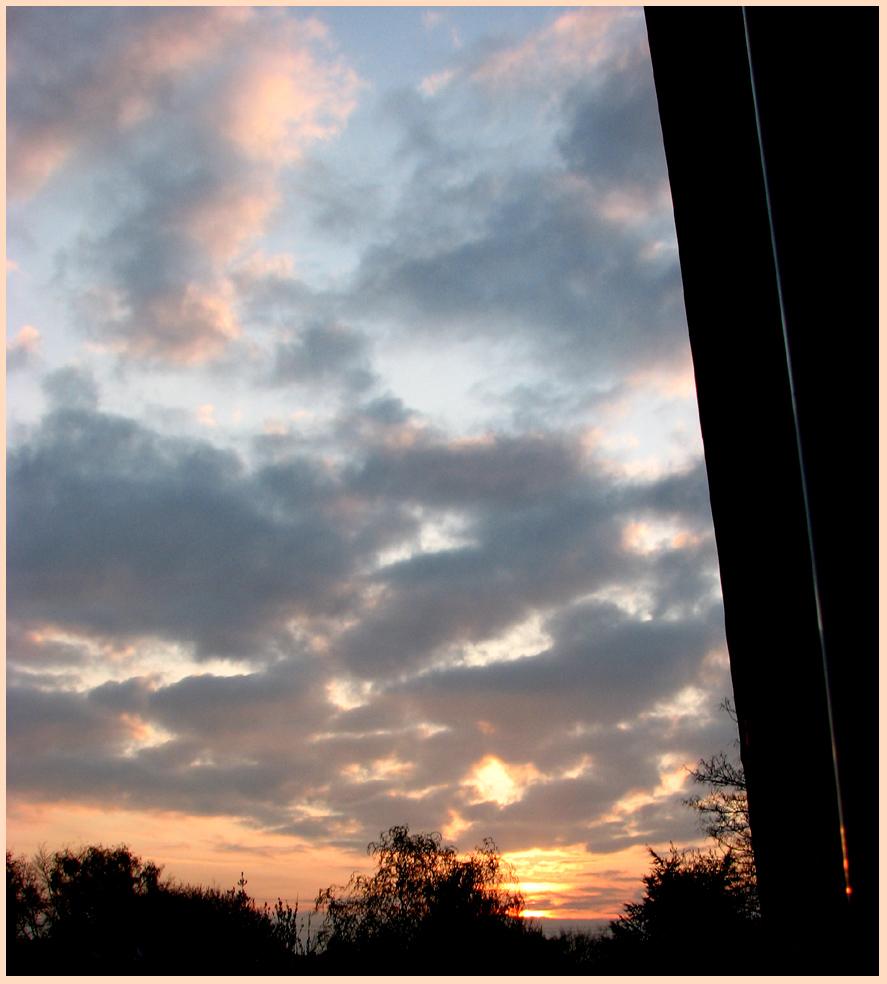 Heute Morgen vom Balkon aus erwischt