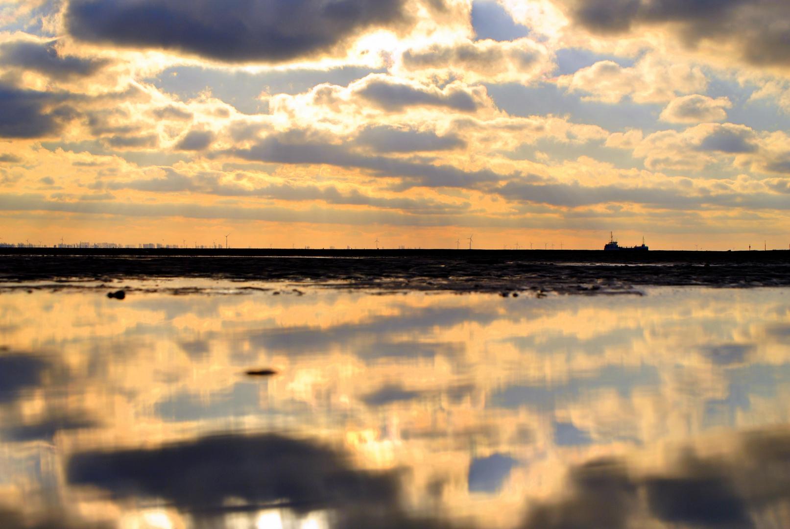 Heute Nachmittag am Wattenmeer