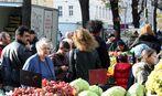 Heute Vormittag auf dem Viktor-Adler-Markt (2)