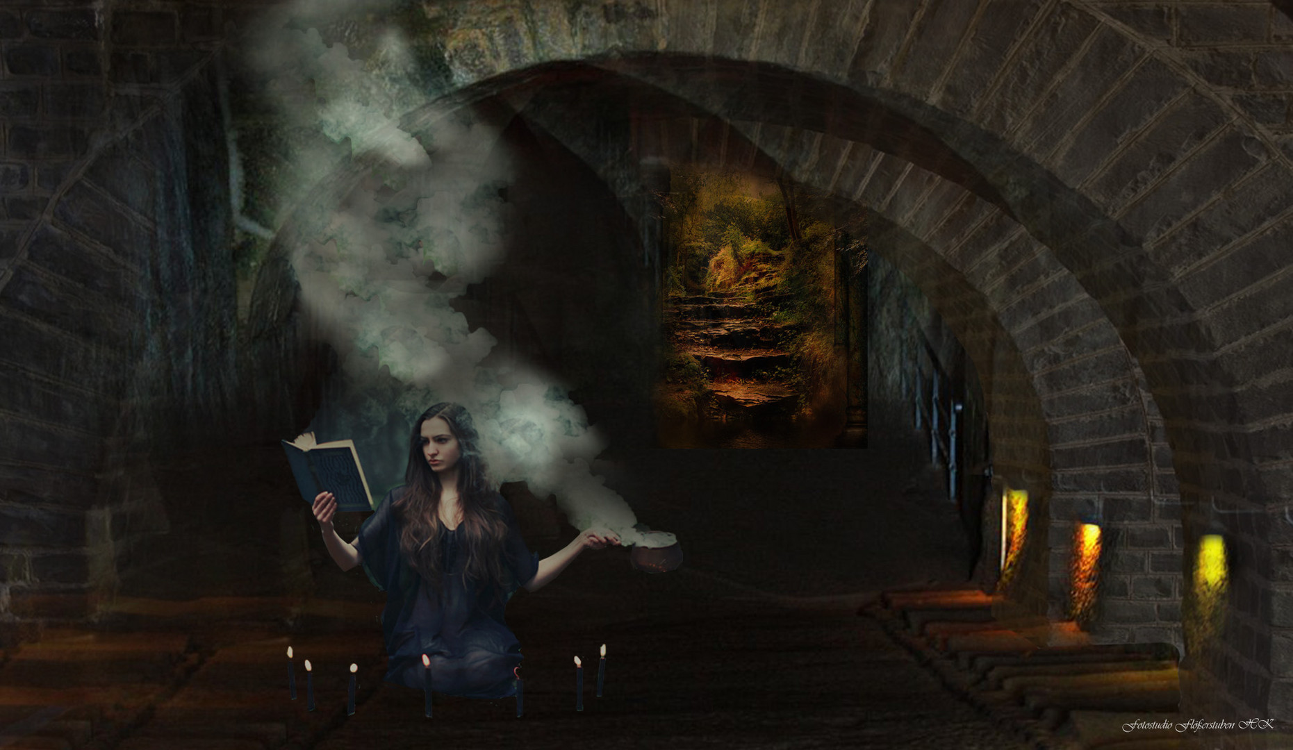 hexenküche foto & bild | digiart, fantasy mystery, fotomontage