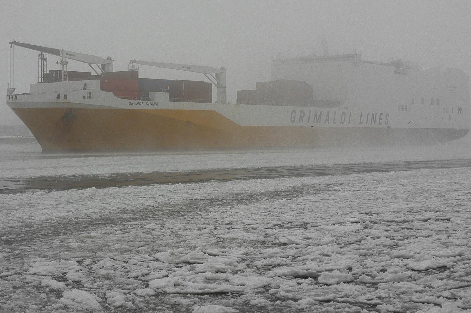 HH Hafen // Grimaldi im Nebel