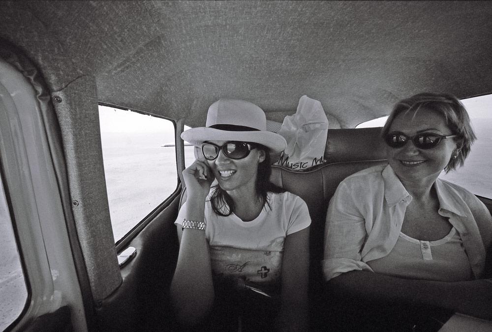 Hi, we're flying in a Cessna over the Namibian desert!