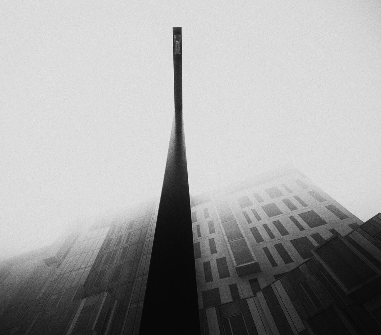Hidden by fog